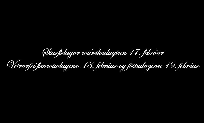 Mynd fyrir Starfsdagur og vetrarfrí