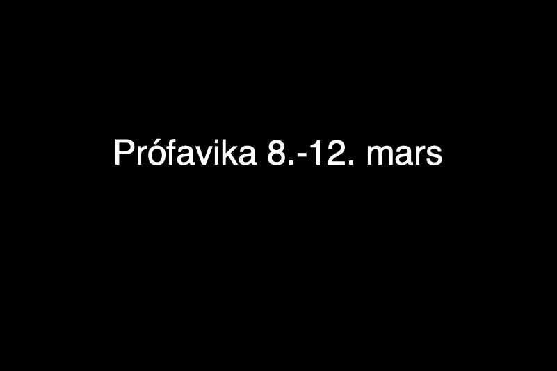 Mynd fyrir Prófavika í tónlistarskólanum