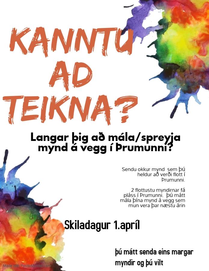 Mynd fyrir Langar þig að mála þína mynd á vegg í Þrumunni?