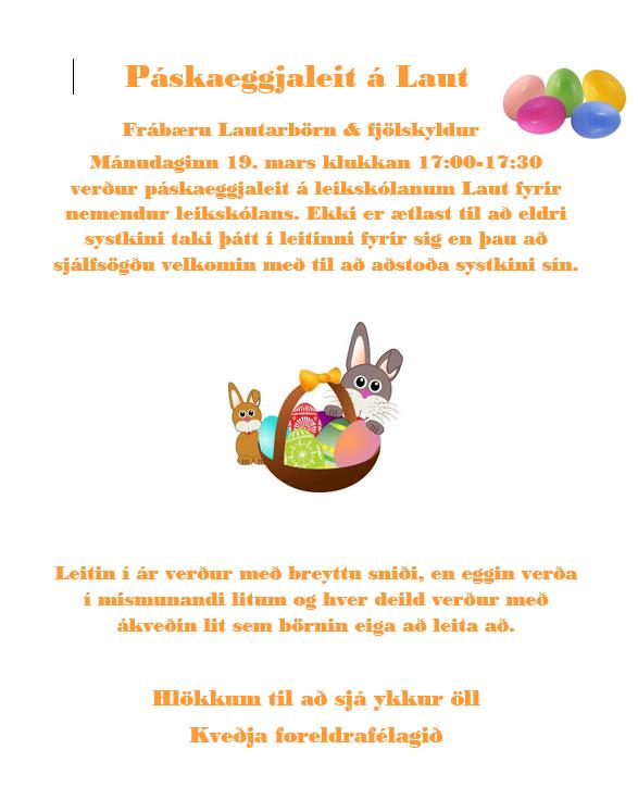 Mynd fyrir Páskaeggjaleit - Foreldrafélagið