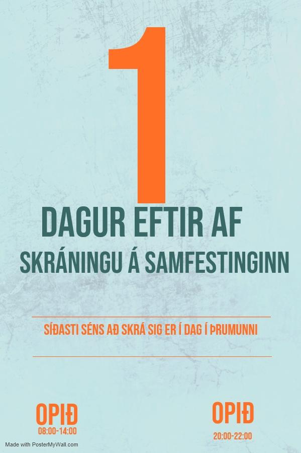 Mynd fyrir Síðasti dagurinn til að sækja um miða á samfestinginn