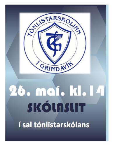Mynd fyrir Skólaslit tónlistarskólans 26. maí kl. 14:00