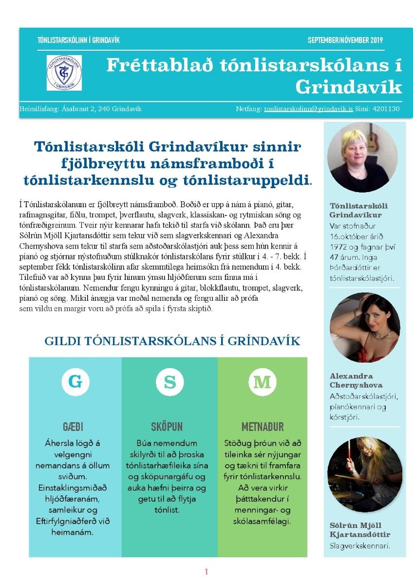 Mynd fyrir Fréttablað Tónlistarskóla Grindavíkur