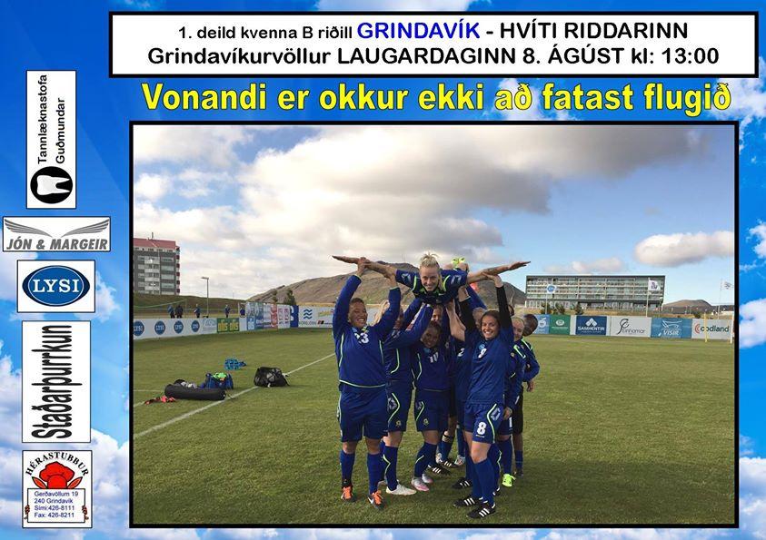 Grindavík tekur á móti Hvíta Riddaranum á morgun, laugardag