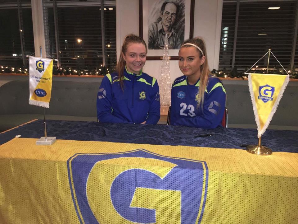Elena og María Sól áfram í Grindavík