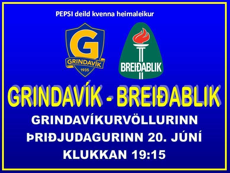 Grindavík tekur á móti Blikum í kvöld