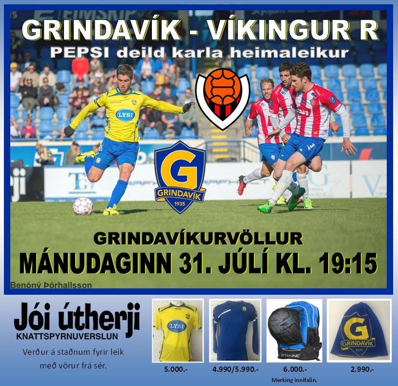 Grindavík - Víkingur í kvöld kl. 19:15