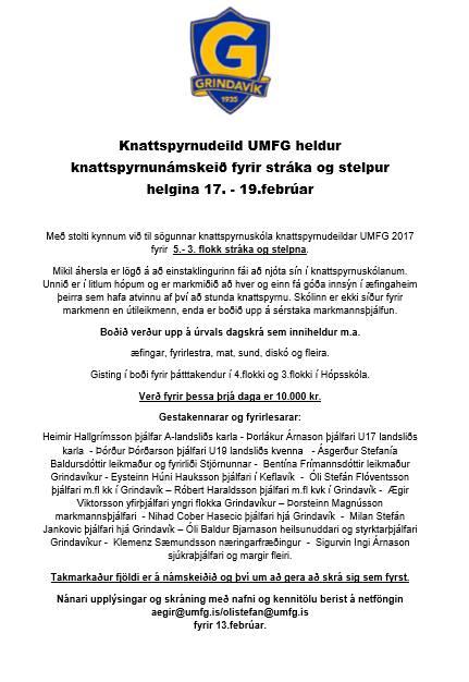 Knattspyrnuskóli UMFG