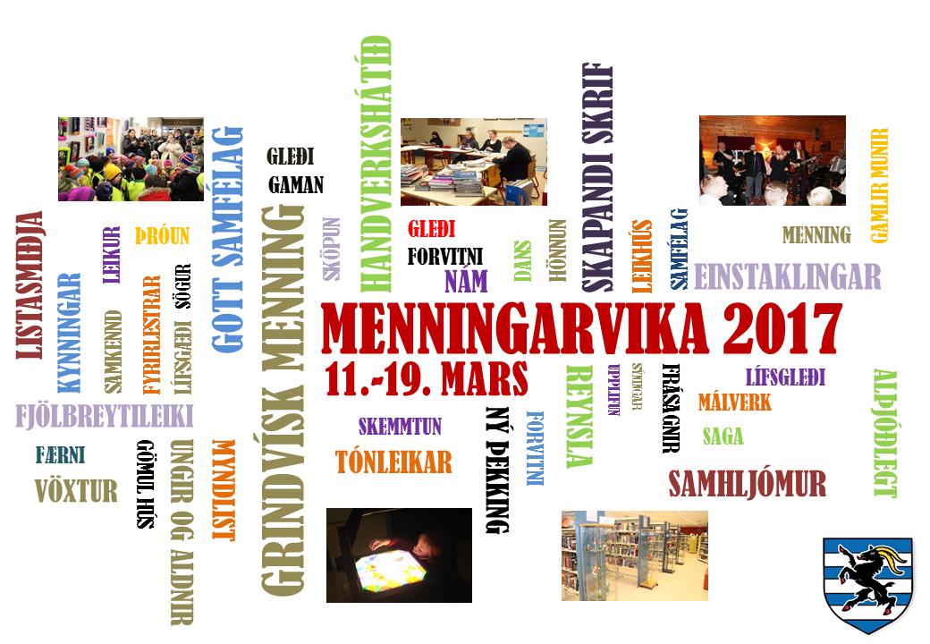 Dagskrá Menningarviku 2017