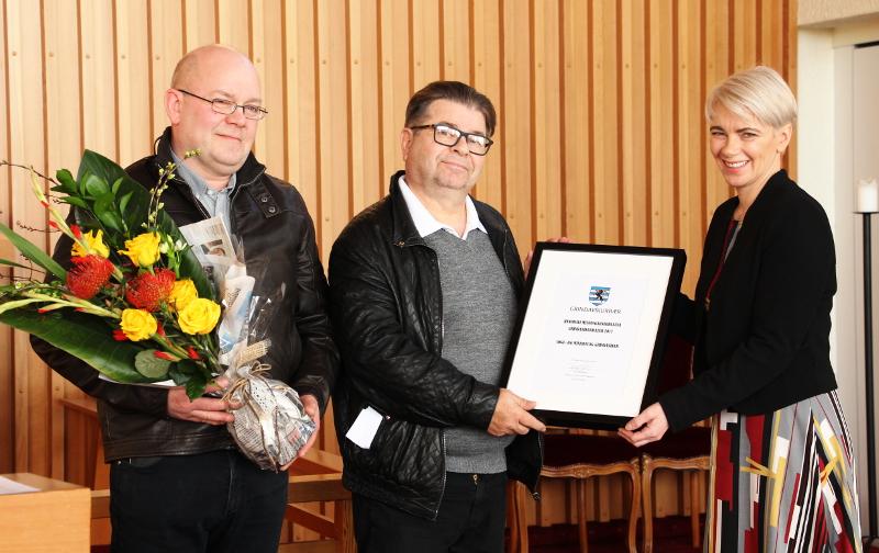 Menningarverðlaun Grindavíkur 2017 afhent