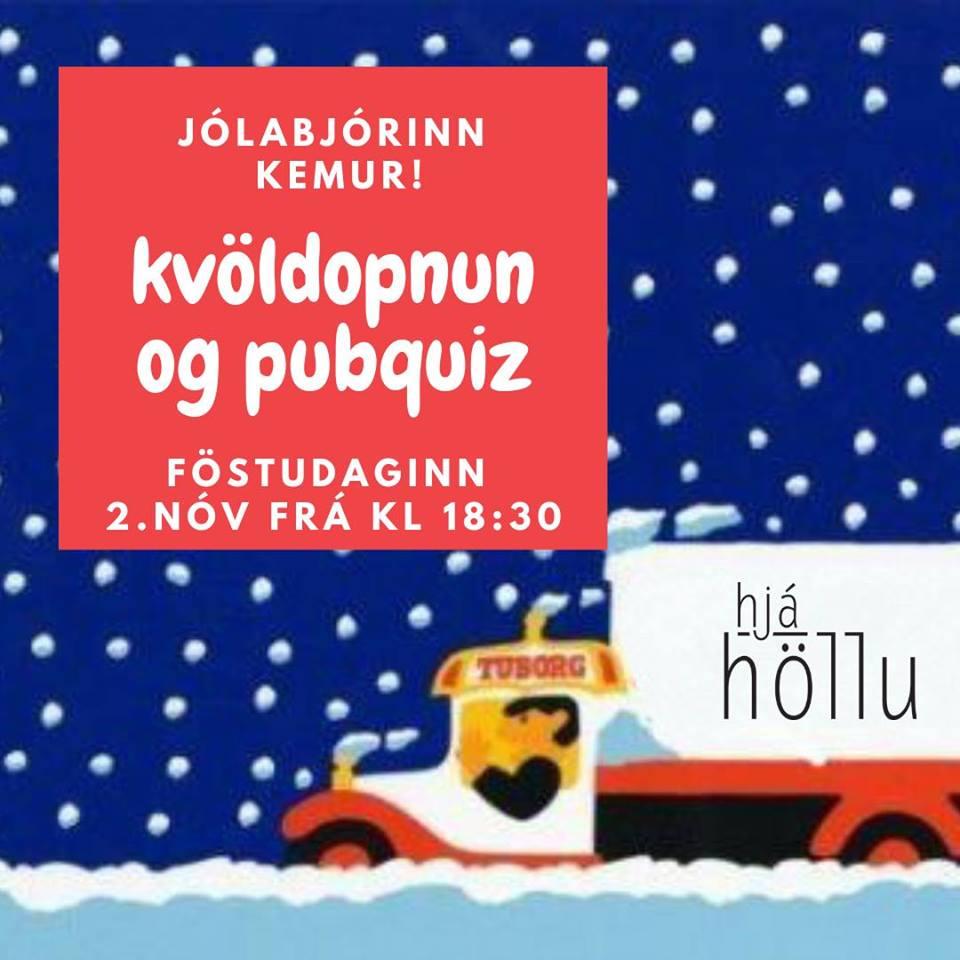 Mynd fyrir Kvöldopnun hjá höllu - pubquiz
