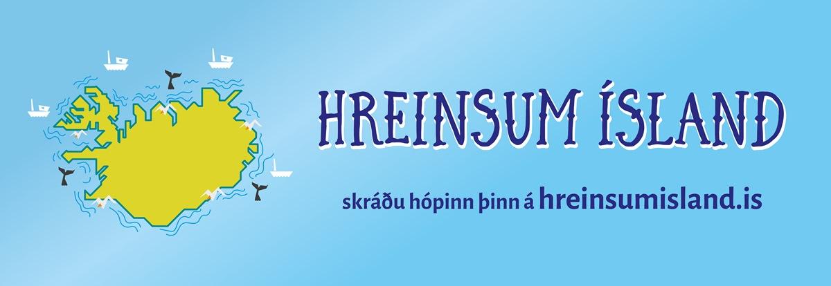Mynd fyrir Hreinsunarátakinu Hreinsum Ísland hleypt af stokkunum við grunnskólann á morgun