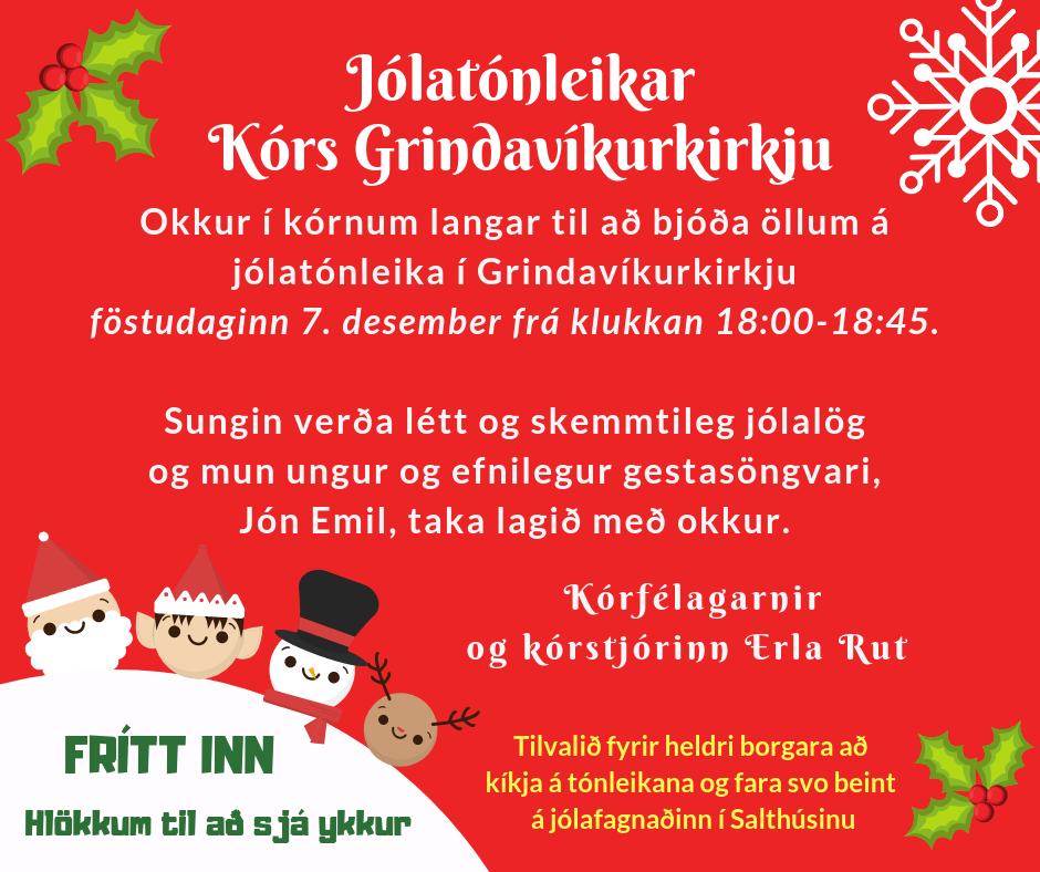 Jólatónleikar kórs Grindavíkurkirkju