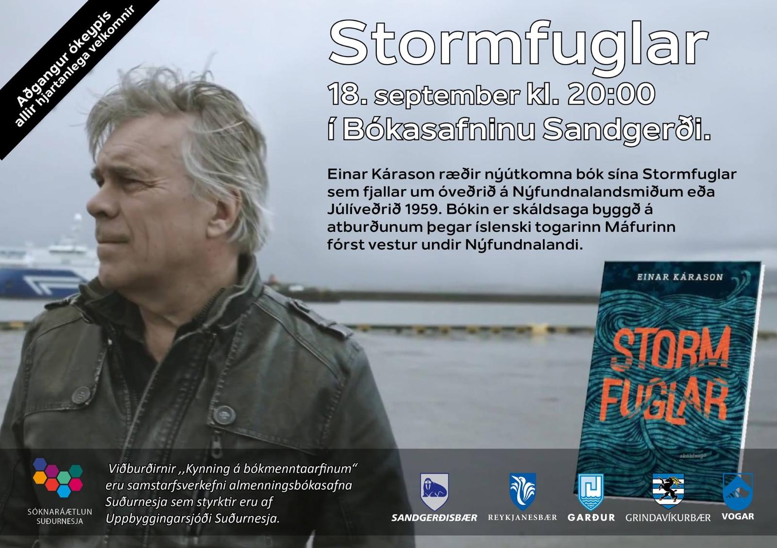 Mynd fyrir Stormfuglar Einars Kárasonar - kynning á bókmenntaarfinum
