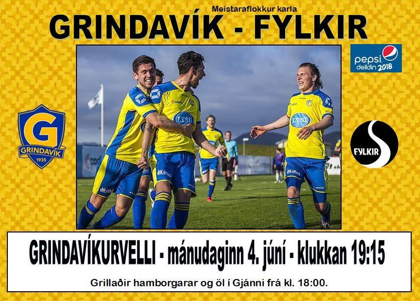 Mynd fyrir Grindavík tekur á móti Fylki í kvöld