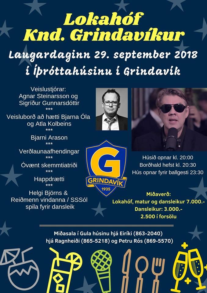 Mynd fyrir Lokahóf knattspyrnudeildar UMFG laugardaginn 29. september - forsala hafin