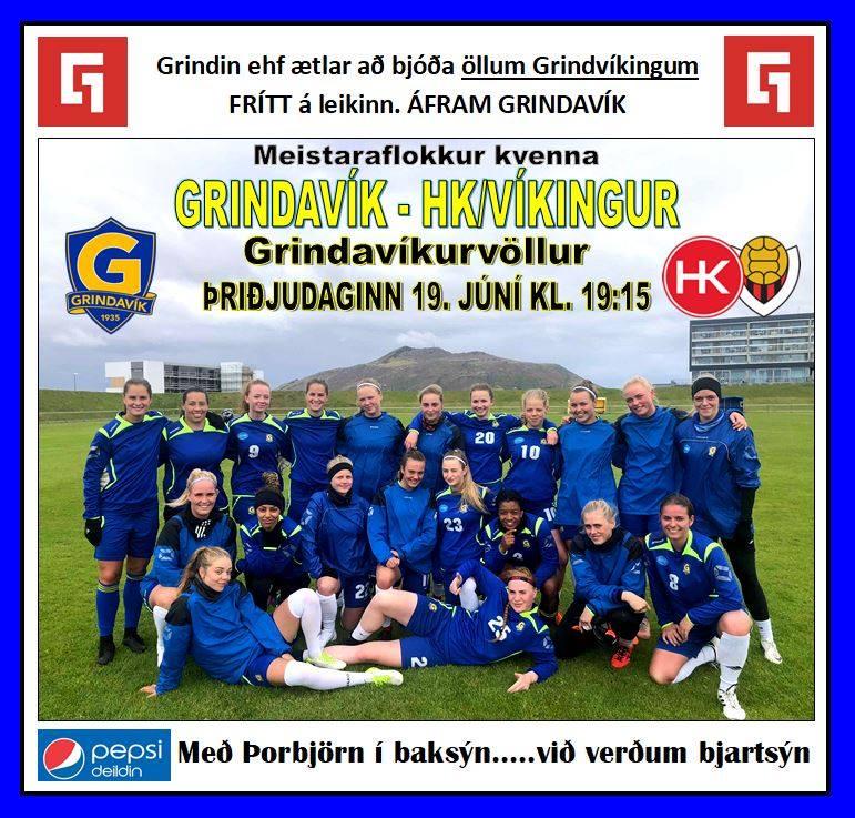 Mynd fyrir Grindin býður á völlinn annað kvöld