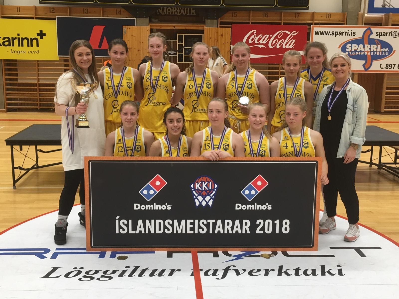 Mynd fyrir Grindavík Íslandsmeistarar í 10. fl. kvenna