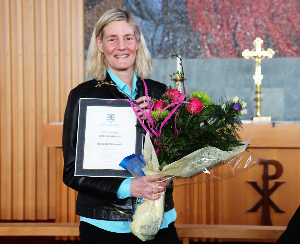 Mynd fyrir Anna Sigríður Sigurjónsdóttir er bæjarlistamaður Grindavíkur 2018