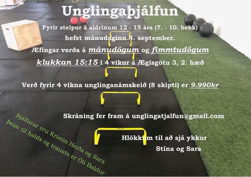 Mynd fyrir Unglingaþjálfun fyrir stelpur af stað í haust