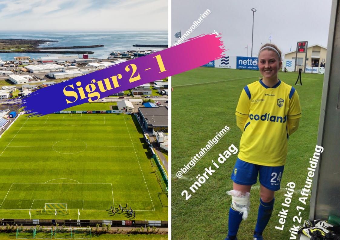 Mynd fyrir Grindavík vann Aftureldingu 2-1