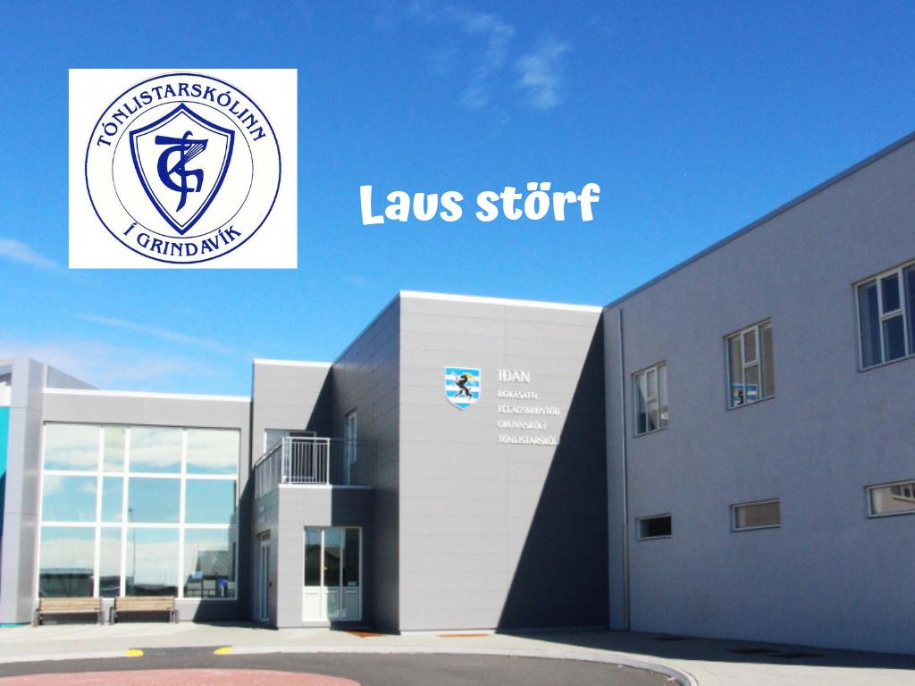 Mynd fyrir Laus störf við Tónlistarskólann í Grindavík