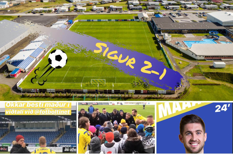 Grindavík vann KR 2-1 á heimavelli