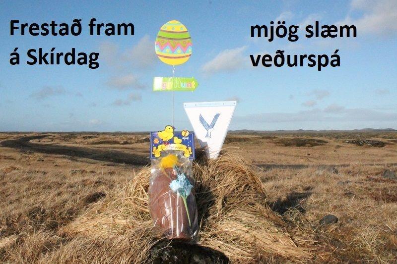 Páskaeggjaleitinni er frestað fram á skírdag