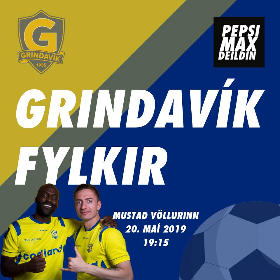 Mynd fyrir Grindavík tekur á móti Fylki kl. 19:15
