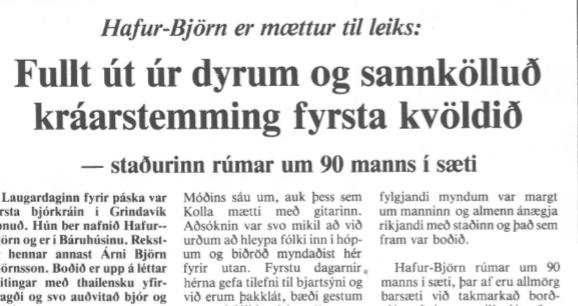 Bæjarbót: Hafur-Björn fyrsta bjórkráin í Grindavík