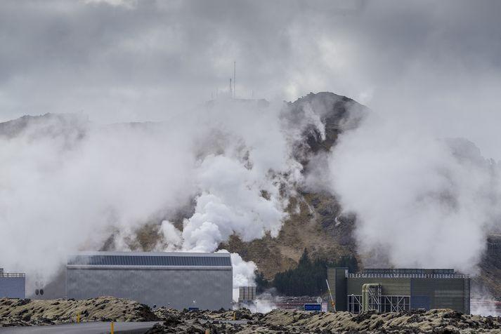 Gufublástur vestan Grindavíkur - skýring