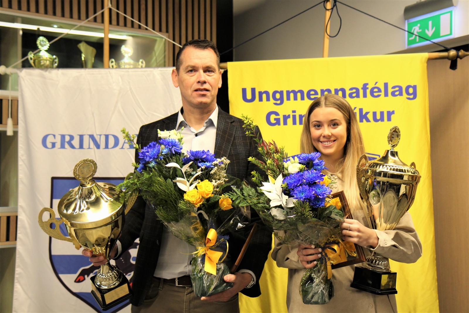 Mynd fyrir Hrund og Jón Axel íþróttafólk Grindavíkur 2019