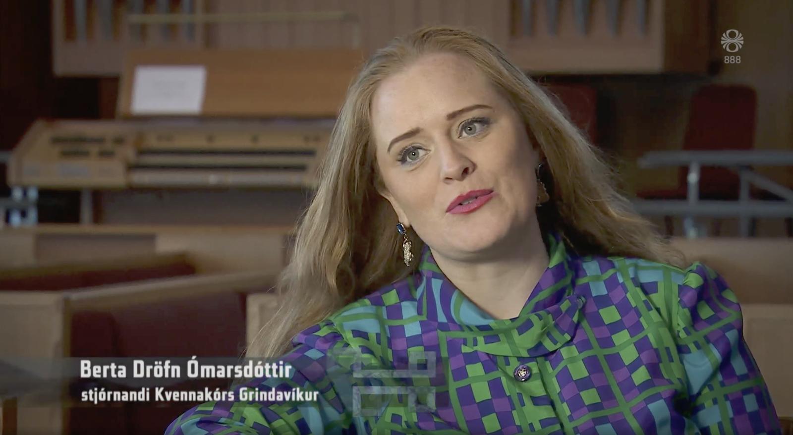 Landinn heimsótti nýstofnaðan kvennakór í Grindavík
