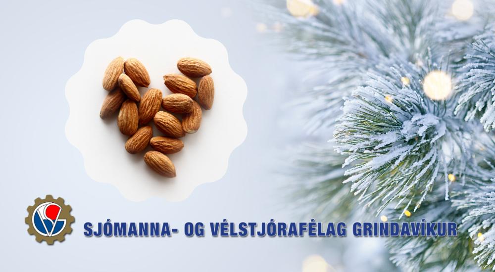 Mynd fyrir Sjómanna- og vélstjórafélag Grindavíkur býður upp á heitar möndlur