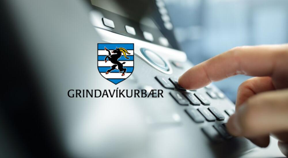 Símkerfi Grindavíkurbæjar liggur niðri