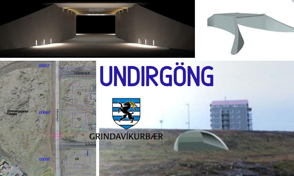 Göng koma undir Víkurbraut við gatnamót Suðurhóps