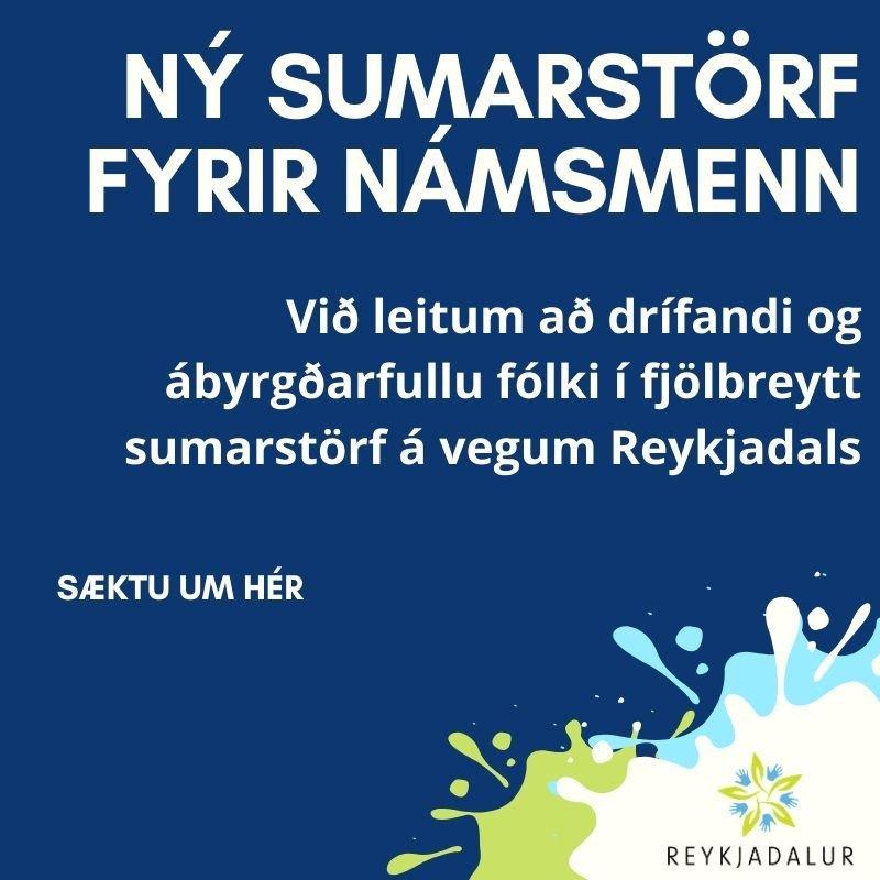 Auglýst eftir starfsfólki í Sumarfrí Reykjadals í Grindavík