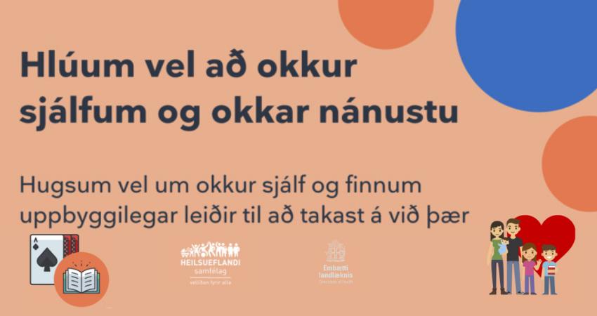 Mynd fyrir Hlúum vel að okkur sjálfum og okkar nánustu
