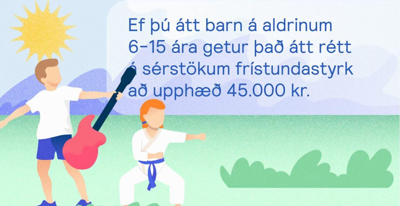 Mynd fyrir Svona sækir þú um sérstakan íþrótta- og tómstundastyrk