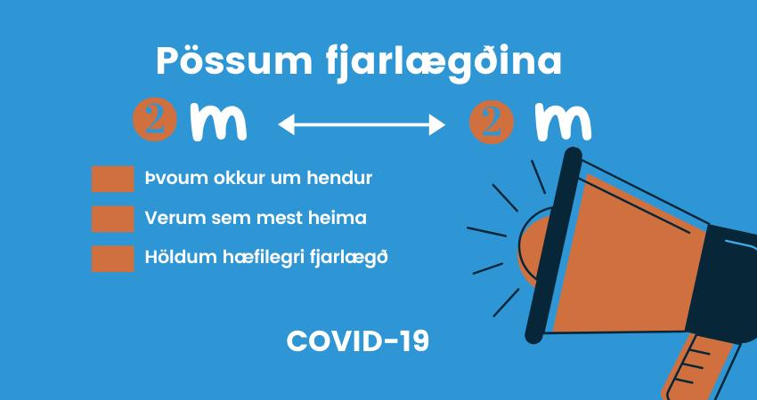 Mynd fyrir Vinsamleg tilmæli: Pössum fjarlægðina