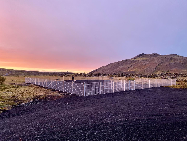 Mynd fyrir Langþráð hundagerði komið í notkun