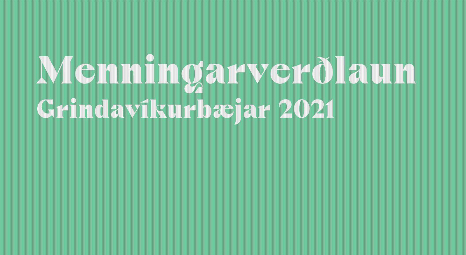 Mynd fyrir Óskað eftir tilnefningum til menningarverðlauna 2021