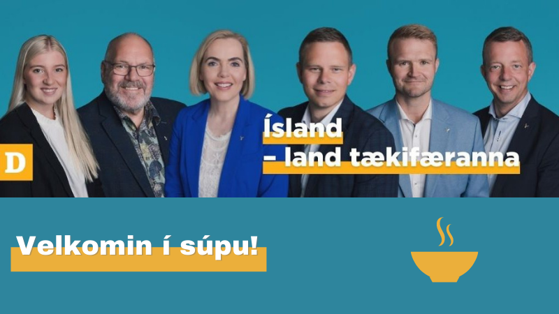 Mynd fyrir Sjálfstæðisflokkurinn býður í súpu