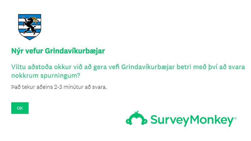 Mynd fyrir Netkönnun: Hjálpaðu okkur að gera grindavik.is enn betri
