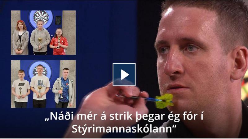 Mynd fyrir Áhugi og árangur Grindvíkinga í pílukasti vekur athygli