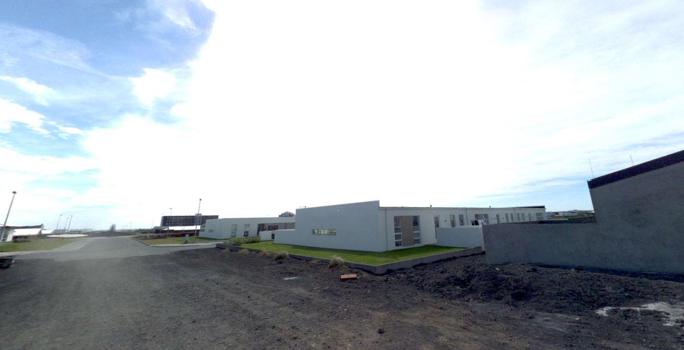 Mynd fyrir Steypun kantsteina í Víkurhópi. Norðurhópi og Hópsbraut