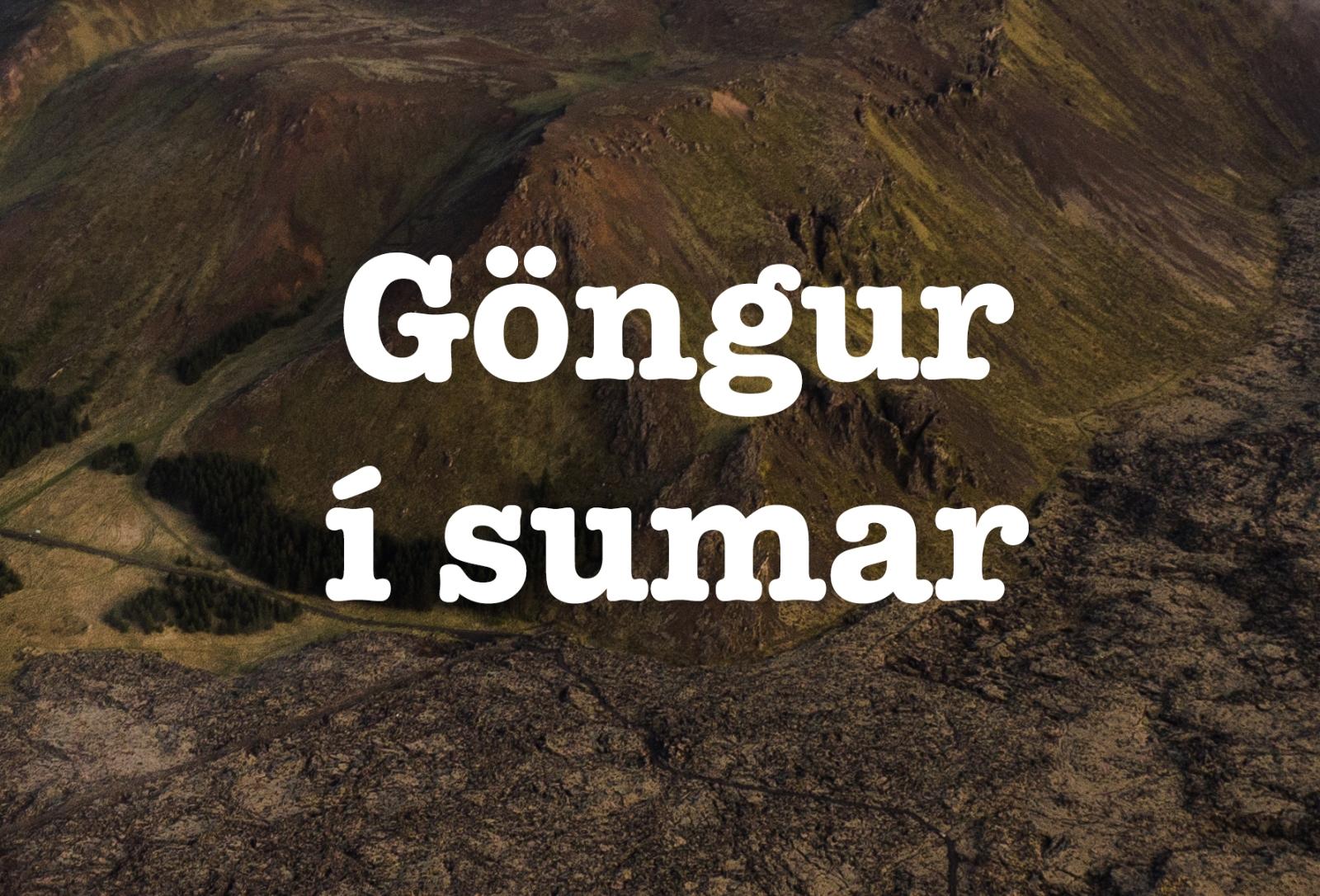 Mynd fyrir Göngur í sumar - Skógfellsstígur