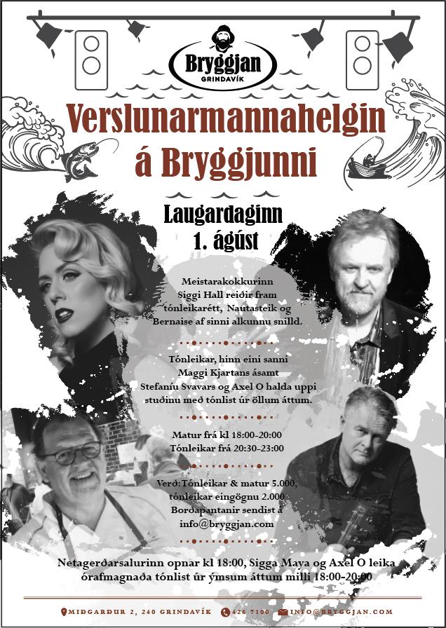 Mynd fyrir Verslunarmannahelgin á Bryggjunni