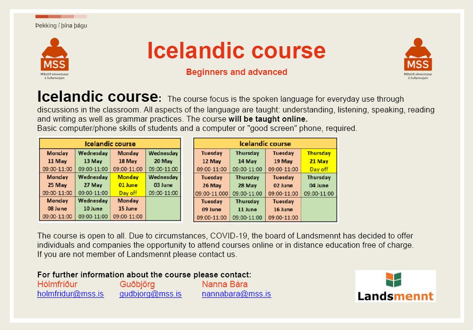 Mynd fyrir Kurs języka islandzkiego