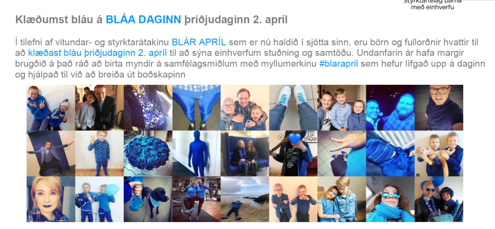 Mynd fyrir Blár dagur -þriðjudaginn 2 apríl